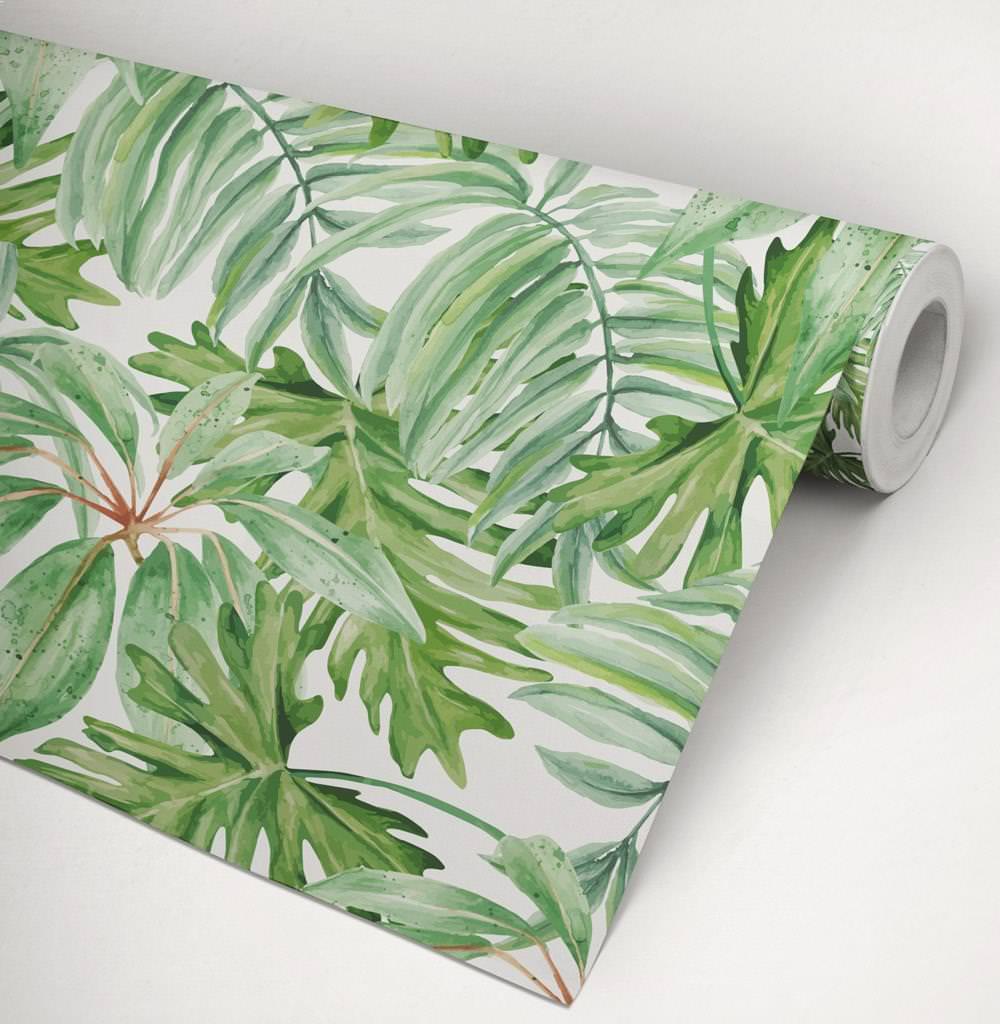 Papel de parede folha de bananeira - Papel para paredes ikea ...