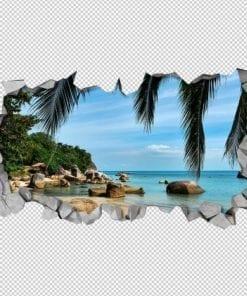A Praia Efeito 3D Detalhe