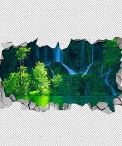 Cascata Verde Paredes 3D Detalhes