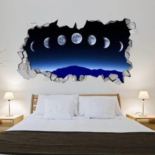Fases da Lua Paredes 3D