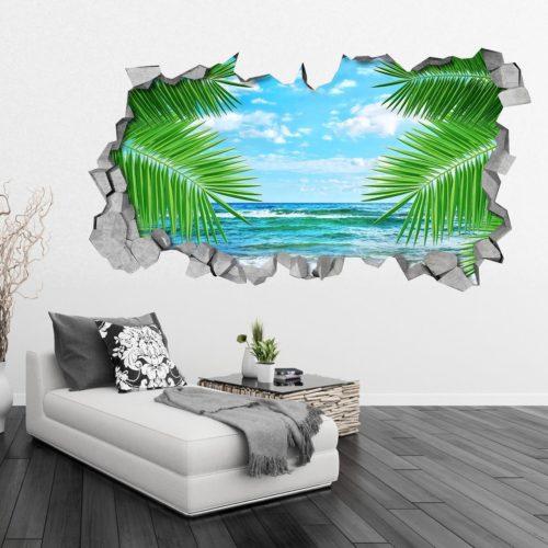 Folhas e Mar Efeitos 3D