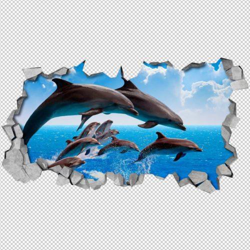 Golfinhos 3D Wallpaper Detalhes