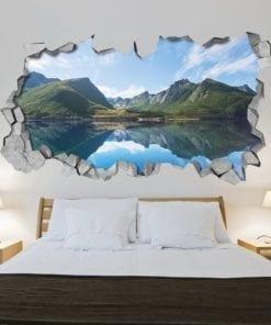 Lago nas Montanhas Efeitos 3D