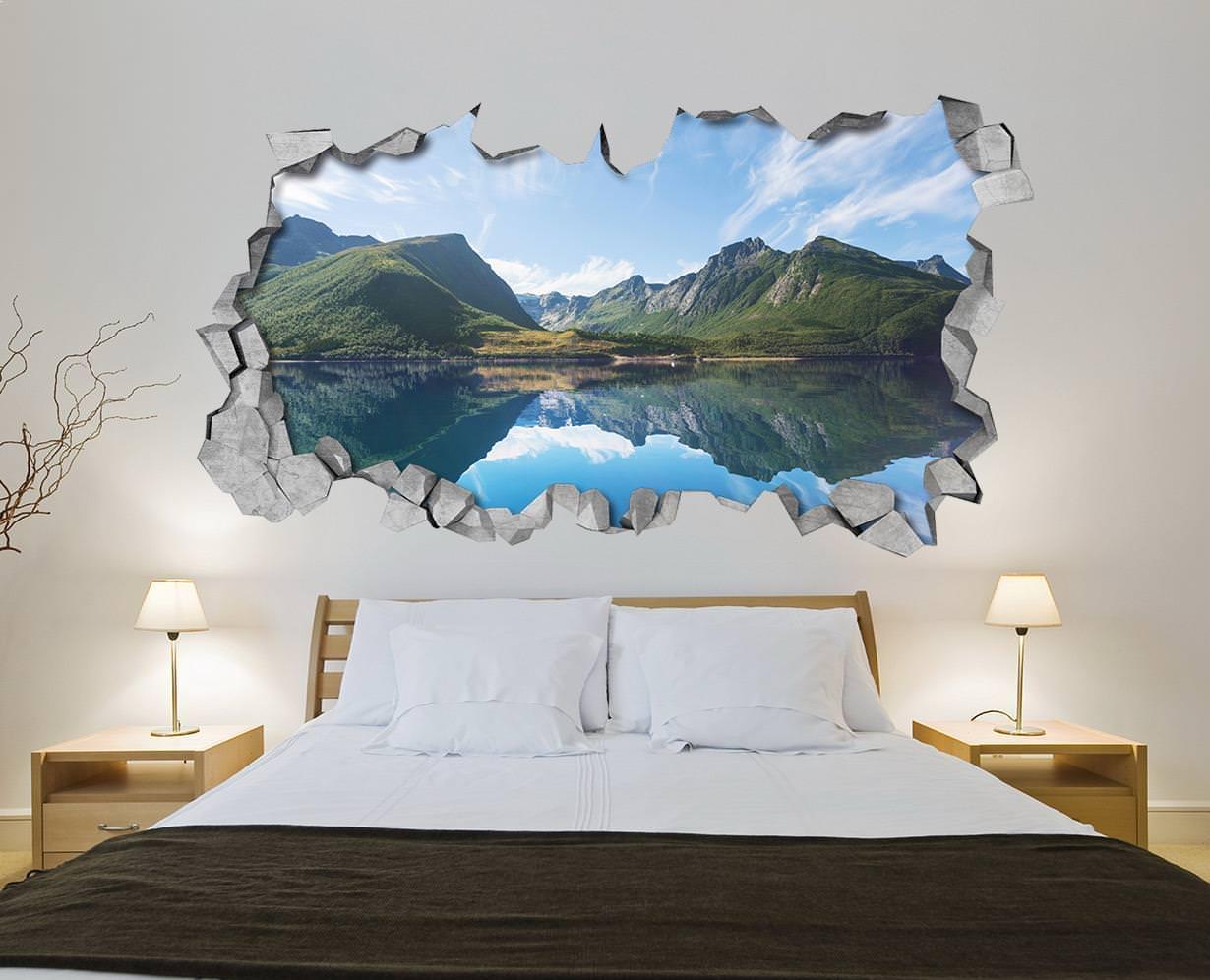 Lago Nas Montanhas Efeitos 3d Casadart Pt