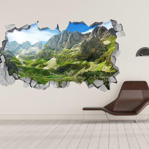 Montanhas Verdes 3D Wallpaper