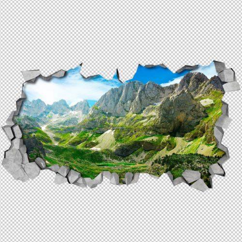 Montanhas Verdes 3D Wallpaper Detalhes