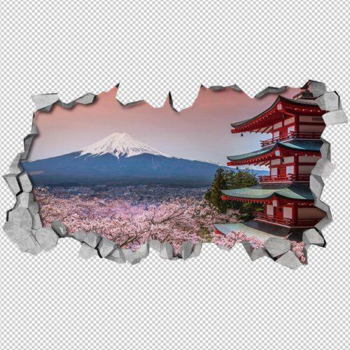 Monte Fuji Paredes 3D Detalhes