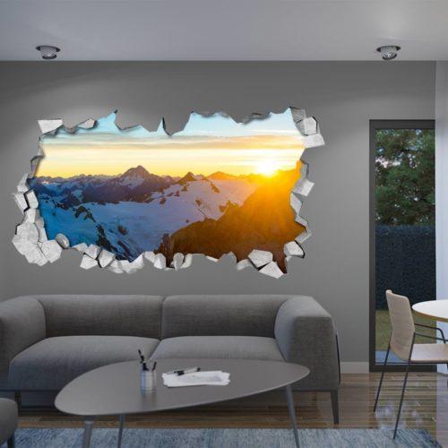 Nascer do Sol nas Montanhas Wallpaper 3D
