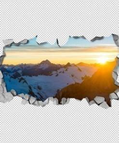Nascer do Sol nas Montanhas Wallpaper 3D Detalhes