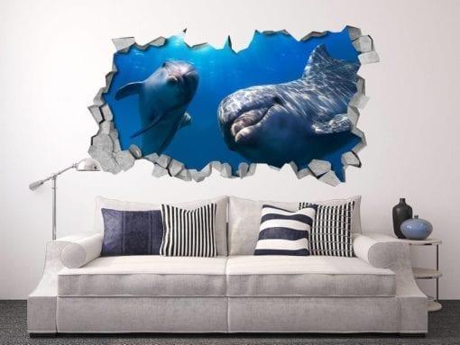 Olá Golfinhos Efeito Parede Partida