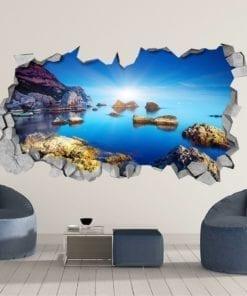 Paisagem Azul 3D Wallpaper