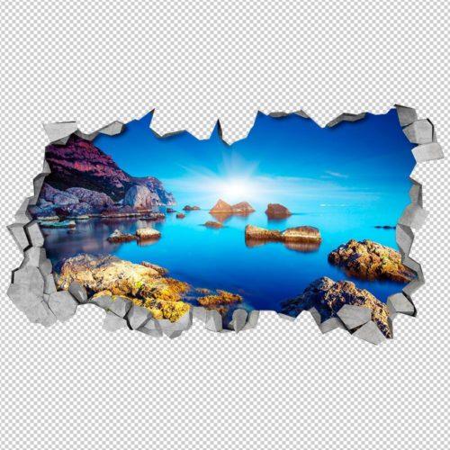 Paisagem Azul 3D Wallpaper Detalhes