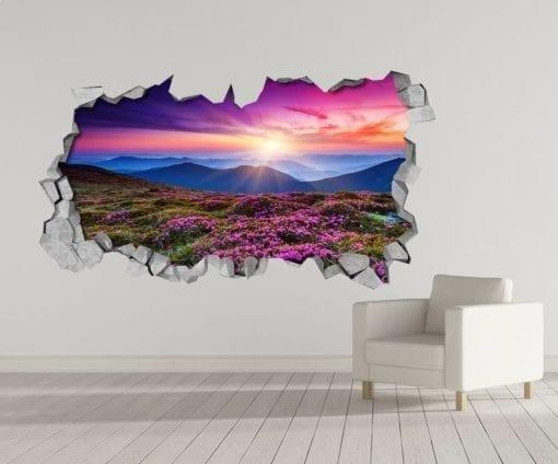 Paisagem Púrpura 3D Wallpaper