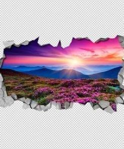 Paisagem Púrpura 3D Wallpaper Detalhes