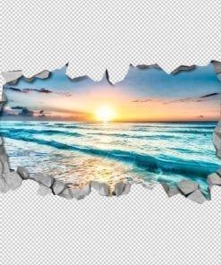 Por do Sol Efeito Parede Partida Detalhe