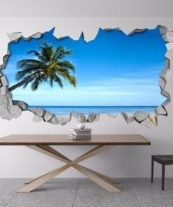 Praia Tropical 3D Wallpaper