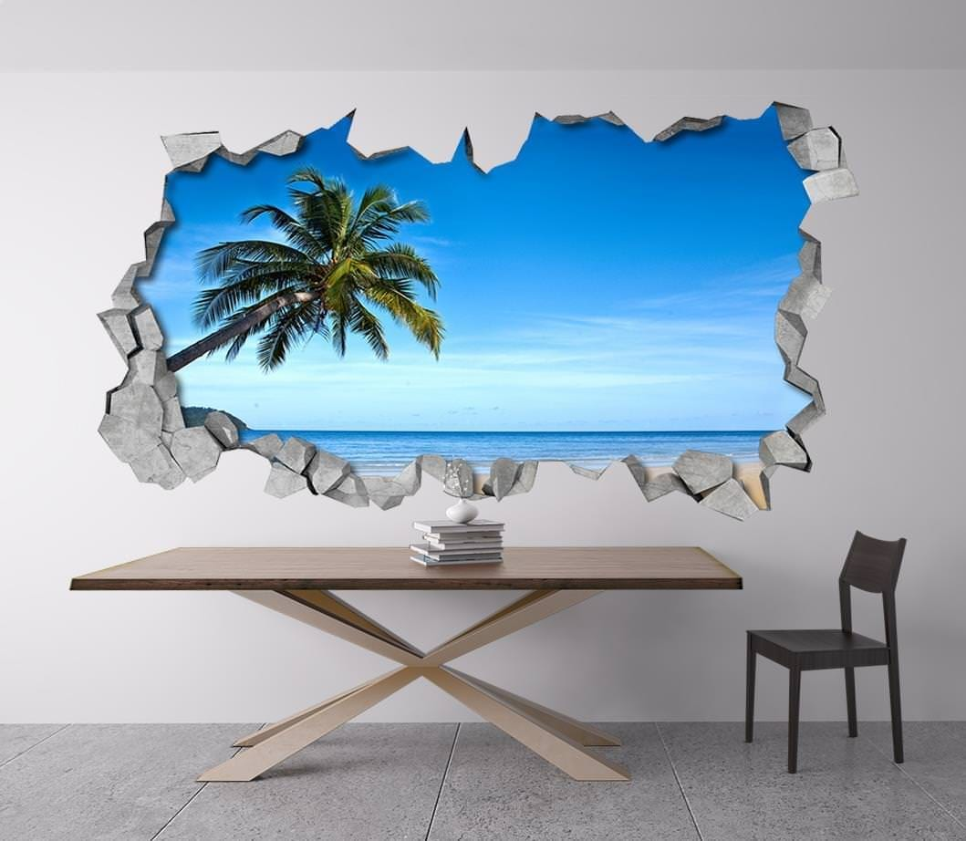 praia tropical 3d wallpaper. Black Bedroom Furniture Sets. Home Design Ideas