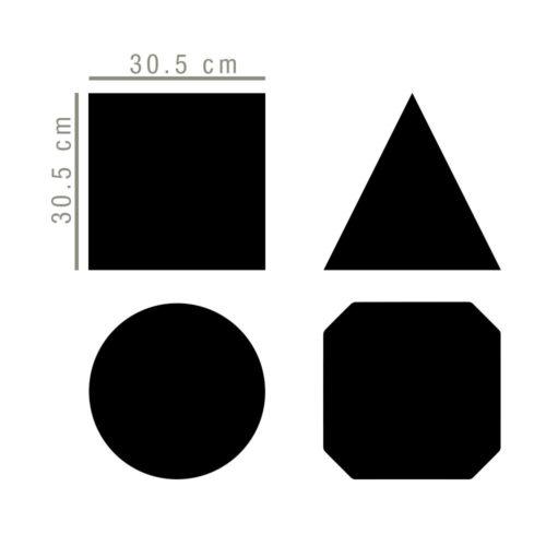 Pack Geométrico em Vinil Ardósia Dimensões