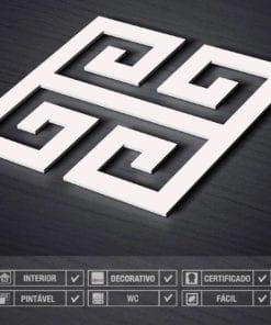 Chave Grega Painéis Decorativos 3D - Detalhe