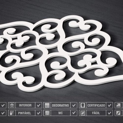 Coração Filigrana Painéis Decorativos 3D Detalhe