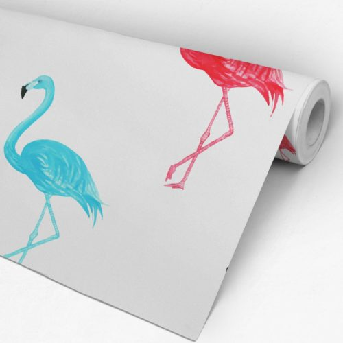 Flamingos Aguarela Papel de Parede Rolo