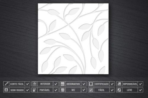 Floral em Baixo Relevo Revestimentos 3D Detalhes