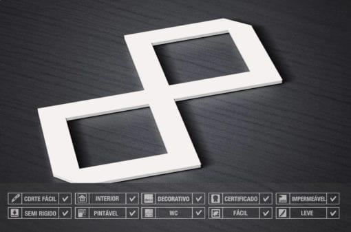 Modelo Chevron Painéis Decorativos 3D Detalhe