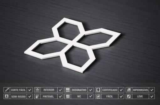 Painel 3D Flores Mid Century Geométrico Detalhe