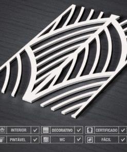 Painel 3D Folhas Mid Century Detalhe