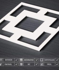 Painel 3D Quadrados Mid Century Detalhe
