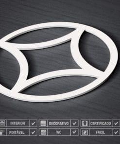 Paredes 3D Padrão Circulo Estrela Detalhes