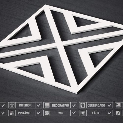 Paredes 3D Padrão Moderno Detalhes