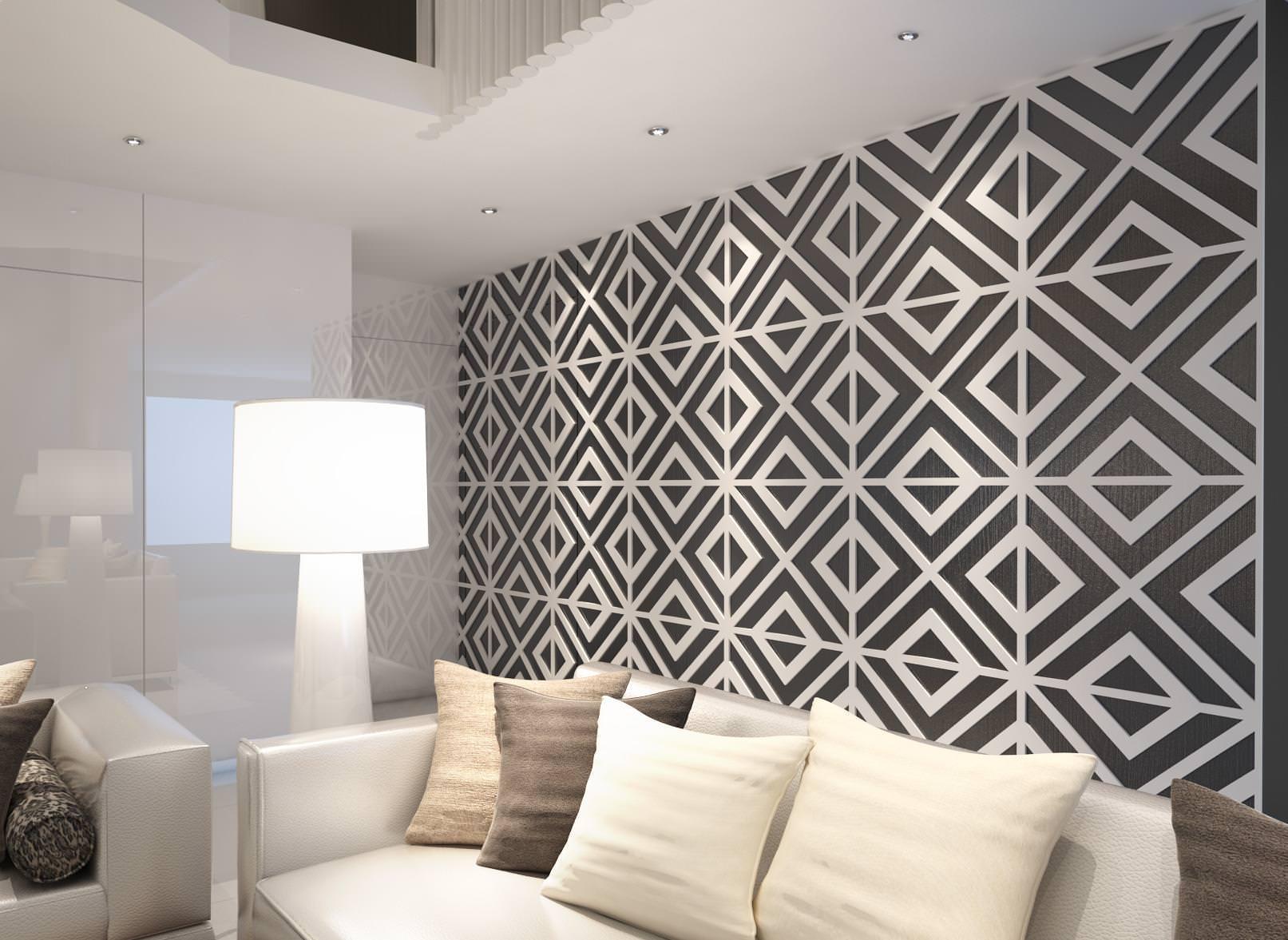 Paredes 3d padr o moderno - Materiales para forrar paredes interiores ...