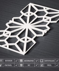 Paredes 3D Padrão Oriental Detalhes