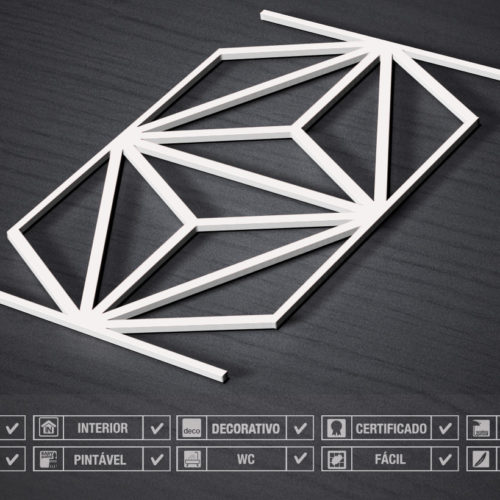3D Wall Panels Mid Century Detalhes