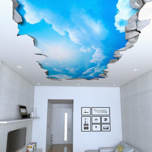 Céu Efeito 3D para Teto
