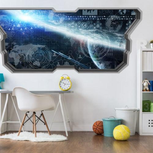 Centro de Comando do Espaço Wallpaper 3D