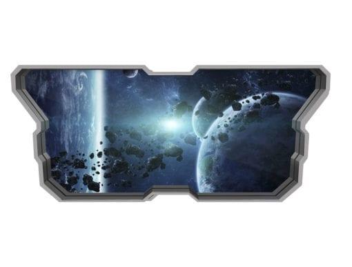 Cinturão de Asteróides Wallpaper 3D Detalhes