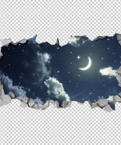 Efeito-3d-para-teto-ceu-noturno-detalhe