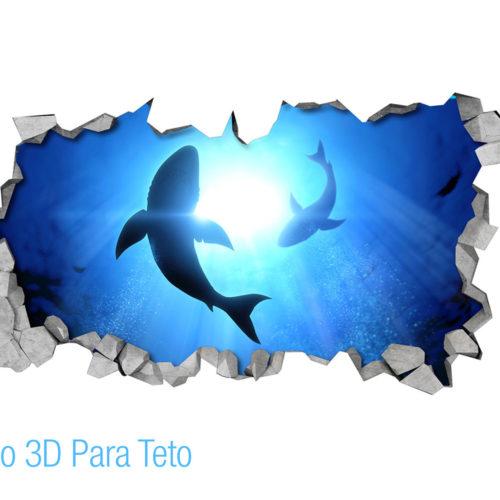 Tubarões Efeito 3D para Teto Detalhes
