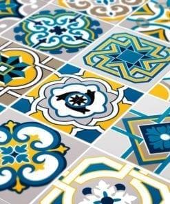 Azulejo Colorido Autocolante - Detalhe