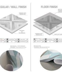 Azulejo Geométrico Desenho em Carvão Autocolante - Material