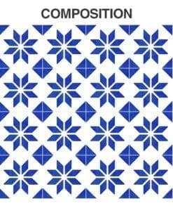 Azulejo Italiano Tradicional Autocolante - Composição