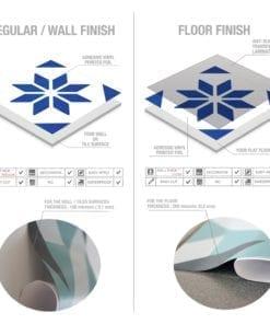 Azulejo Italiano Tradicional Autocolante - Material