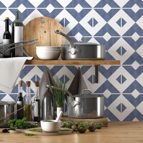 Azulejo Marroquino Tradicional Autocolante - Parede 1