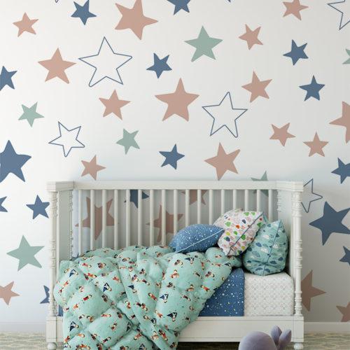 Estrelas coloridas Papel de Parede