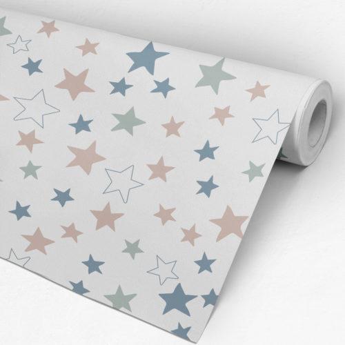 Estrelas coloridas Papel de Parede Rolo