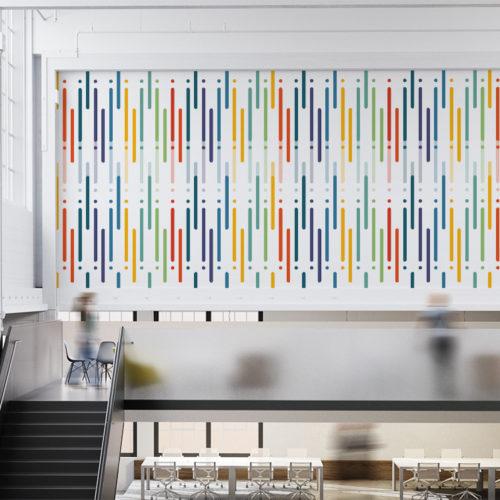 Design de Linhas Coloridas Papel de Parede
