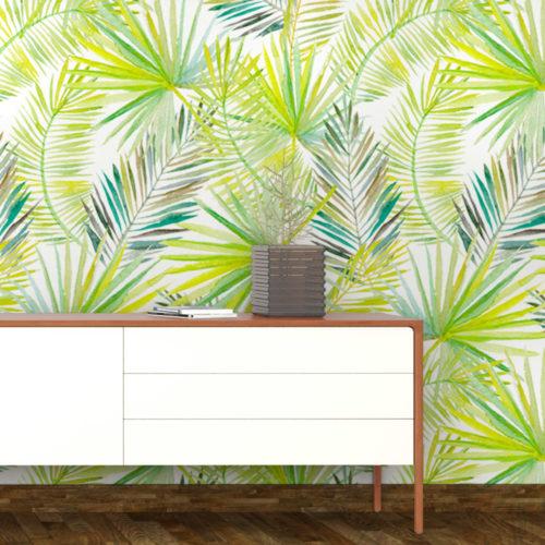 Folhas de Palmeira Decoração Tropical