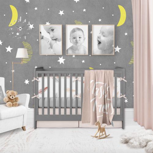Lua e Estrelas Decoração de Quarto Infantil